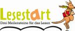 Logo von LeseStart - drei Meilensteine für das Lesen