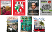 Verschiedene Zeitschriftencover