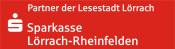 """Logo """"Partner der Lesestadt Lörrach"""" der Sparkasse Lörrach-Rheinfelden"""